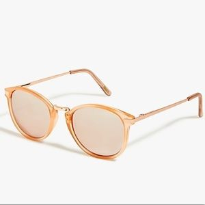 J. Crew Mirrored Rose Gold Sunglasses